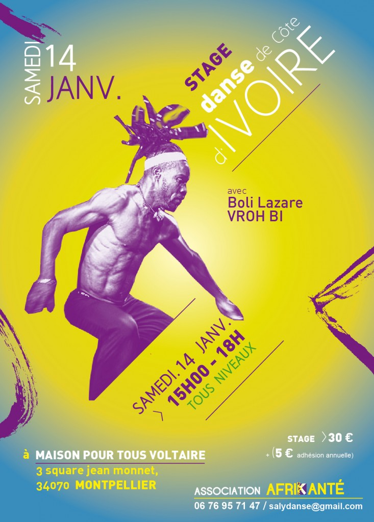 Flyer Stage Boly montpellier 2017